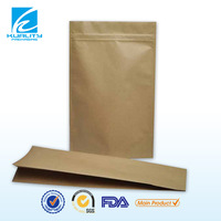 Hot! laminated food packaging natural kraft stand up pouch