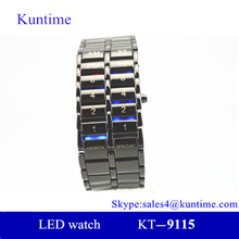 Alibaba express sport lava iron samurai black/silver LED digital wrist watch