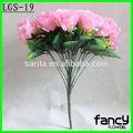 24 heads de rosa flor rosa rosas artificiais atacado