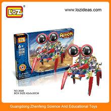 Children's educational blocks toys LOZ plastic electric block mechanical robot building blocks sets