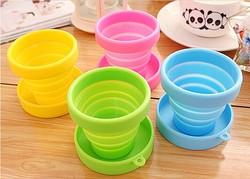 2014 Hot Water Tumbler,BPA Free Mug,Silicone Foldable Cup