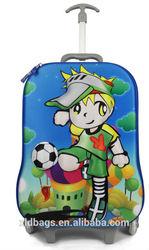 3D children school trolley bag/ EVA kids luggage bag