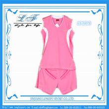 new style beautiful cute lady team custom basketball jersey pink