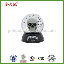 Promotion souvenir skull halloween snow globes