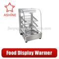 Verre réchauffement showcase/alimentaire réchauffement showcase/chauffe. vitrine d'affichage en verre alimentaire