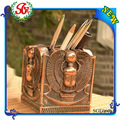 egípcio sge066 miniture alado escarab estátua figura vaso do lápis