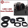 MCOPLUS Rubber Eyecup 1.08X-1.58X Magnifying Eyepiece Professional Zoom Viewfinder for Camera