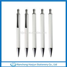 Good Writing Click White Metal Ballpoint Pen