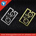 Latão brilhante clipe de papel marca única de Metal da bicicleta marcador 2014 atacado presentes da graduação