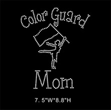 Color Guard Mom rhinestone heat transfers designs
