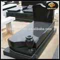 Profissional de fabricação granito preto funeral caixão preços