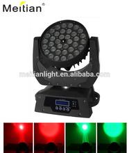 36 10 watt rgbw led zoom moving head wash