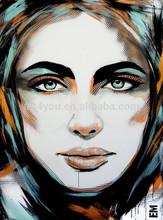 beautiful girl handmade oil painting