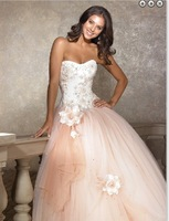 SJ1365 new designsweetheart low price appliqued beaded evening dress 2014