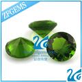 buen control de calidad de color verde esmeralda joyas de parte de la máquina de corte de vidrio en los anillos de la decoración