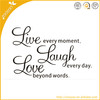 hot sales zooyoo vinyl removable wall decal wall sticker adhesive wallpaper wall words quote live love laugh
