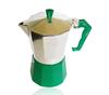 Aluminum green colored 9cup espresso coffee maker moka pot