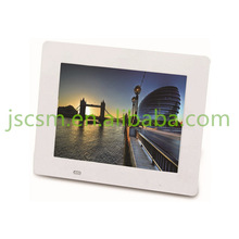 Hot! slim plastic material HD multifunction video/music/photo 8'' inch lcd digital frame