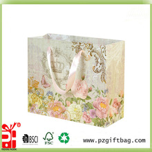 flower decorate gift bag tissue paper