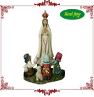 Religious resin figurine Virgin Mary with three kids for decoration
