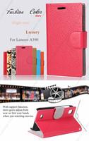 Manufacturer Wholesales wallet folio leather flip case for lenovo a390