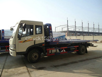 faw 6ton new wrecker tow truck for sale,flat bed truck