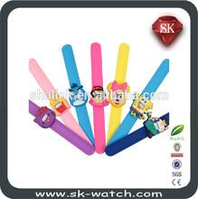 Hot selling fashion new style wholesale kids slap watches silicone 2014