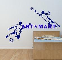 Footballer & Goalkeeper Boys Sport Football Wall Art Sticker - wall sticker home decor bedroom NO.11411