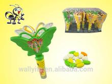 De los niños de favorito de la palmada de la mariposa de caramelo del juguete / de la mariposa de plástico manos que caramelo del juguete