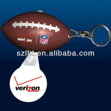 promotional item led rugby projector keychain , logo projector led rugby keychains ,promotion gifts PU rugby keychain