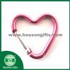 heart shape carabiner, Aluminum Alloy Carabiner with snap hook,fashionable aluminum carabiner