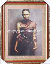 2014 diy diamond painting lady portrait