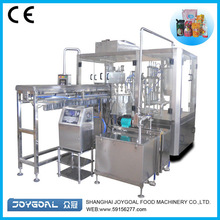 Full-automatic standing up pouch filling and sealing machine for liquid or semi liquid