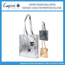 Promotional custom printing laminating metallic non woven bag