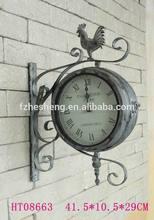 Garden outdoor waterproof double sided cock decorative clock