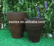 Jardín de fibra de vidrio al por mayor de ollas de barro/de fibra de vidrio plantador/flor de la arcilla olla de venta al por mayor