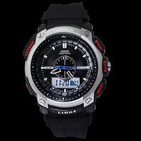 freeshipping (moq 50pcs) high quality 3ATM water resistance OHSEN brand men's sports watch,pu plastic band,digital/quartz move