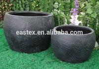 rock design flower planter pot / fiberglass planter / clay flower pot wholesale