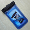 Good quality waterproof swimming cover with armband for swimming and diving (Transparent Blue )