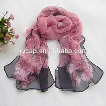 100% Silk Women Lady's Fashion Printed Flower Scarf Neck Wear Wrap Shawl Stole