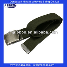 OD green 4mm thick polyster military canvas belt with metal end