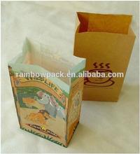 HOT SALE Hamburger/bread /coffe paper bag /print logo on paper bag