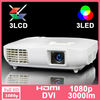 Cheap native 1920x1080 projector 3led 3lcd 3000lumens led 33 projector