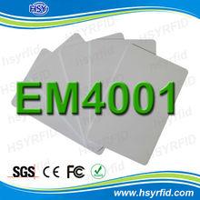 HSY supplier Proximity ID tk4100 125khz rfid em4001 card for access control
