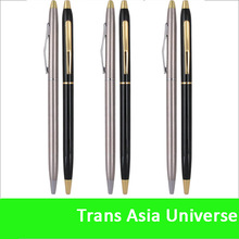 Top quality logo metal twist white pen