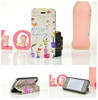 Fashion OEM leather flip cover for mobile phone