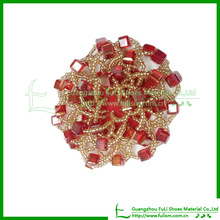 Wholesale Glass Beading AC194 Shoe Clips For Party