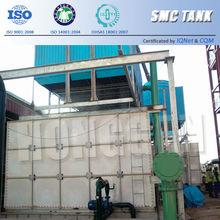 Del medio ambiente combinado GRP FRP tanque para de lucha contra incendios de fibra de vidrio acuicultura tanques