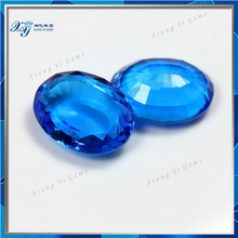 Dark aqua blue very large gemstones,oval shape semi precious stone mexico,crystal beads for wedding dress