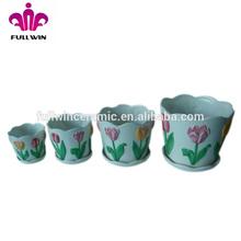 Chinese ceramic garden stools plant set